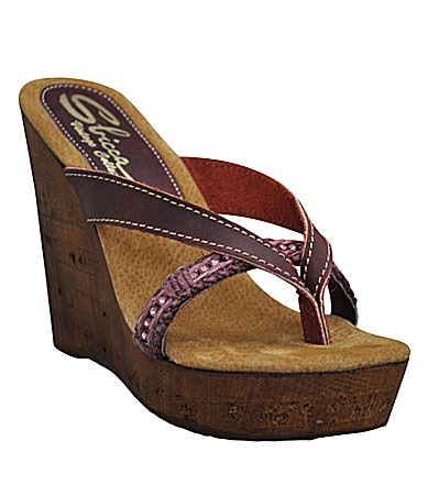 Sbicca Ariel Thong Wedge Sandals