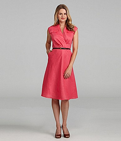 Jones New York Collection Belted Dress