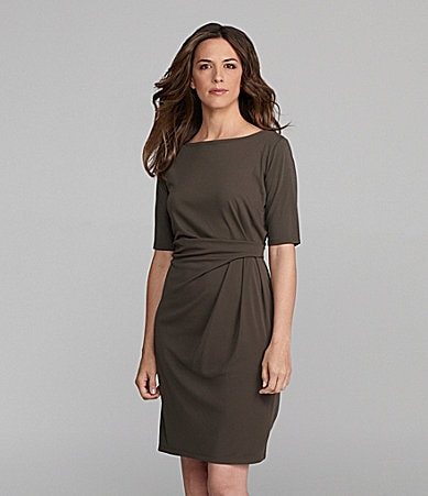 Jones New York Collection Boatneck Dress