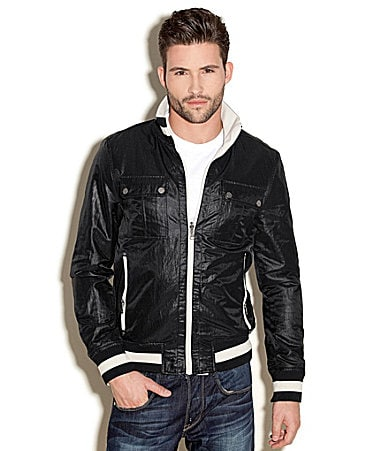 Guess Varsity Reversible Mockneck Jacket