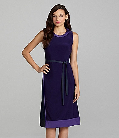 T Tahari Makeda Sleeveless Dress