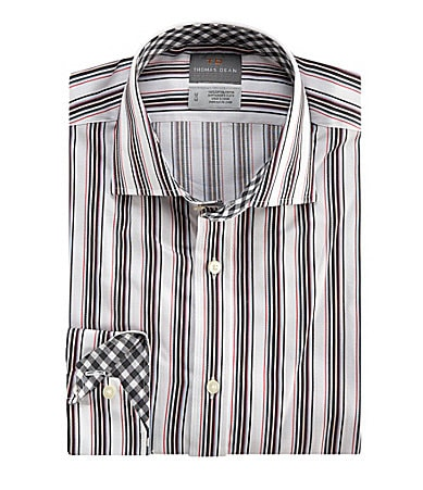 Thomas Dean Multi Stripe Sportshirt
