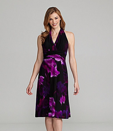 Evan Picone Floral-Print Sleeveless Dress