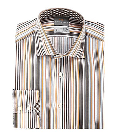 Thomas Dean Barcode Striped Sportshirt