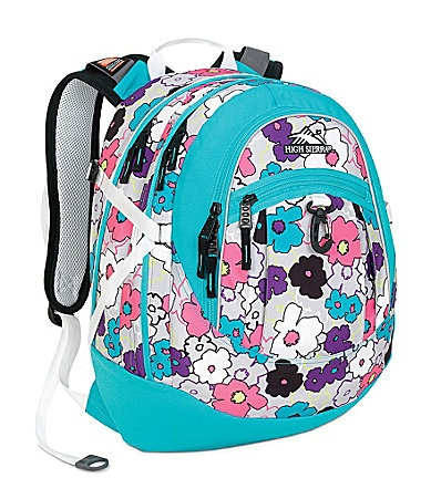 High Sierra Fat Boy Flowers Backpack
