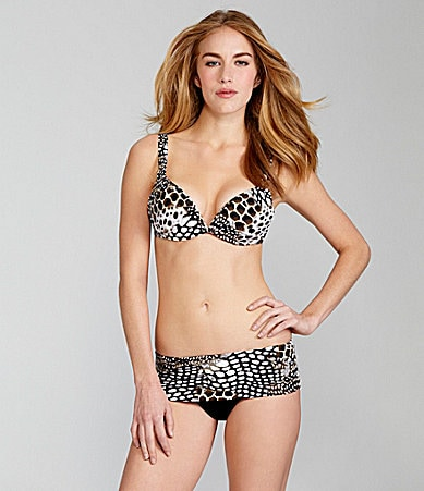 Kenneth Cole New York Safari Skin Bra Top & Fold-Over Hipster Bottom