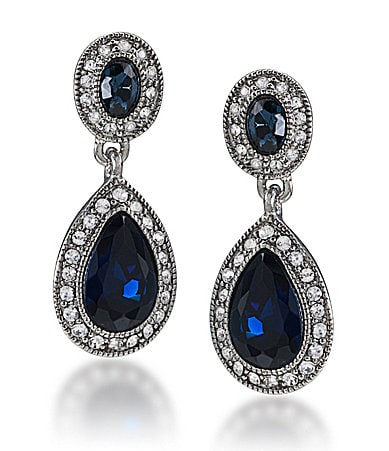 Carolee Simply Blue Double Drop Earrings