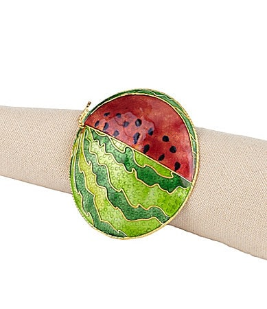 Noble Excellence Cloisonne Watermelon Napkin Ring