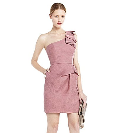 BCBGMAXAZRIA Audrey One Shoulder Dress