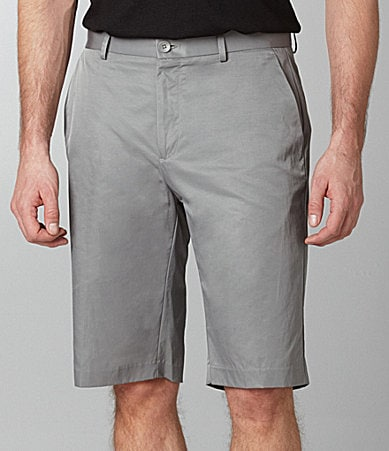 Calvin Klein Flat-Front Dress Shorts