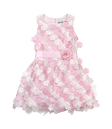 Rare Editions 7-16 3D Flower Dress