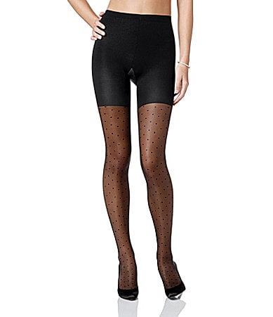 Spanx Sheer Swiss Dot Pantyhose