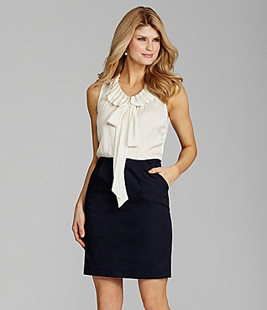 Antonio Melani Baylee Tie-Neck Combo Dress
