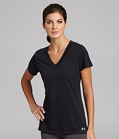Under Armour Charged V-Neck Workout Tee
