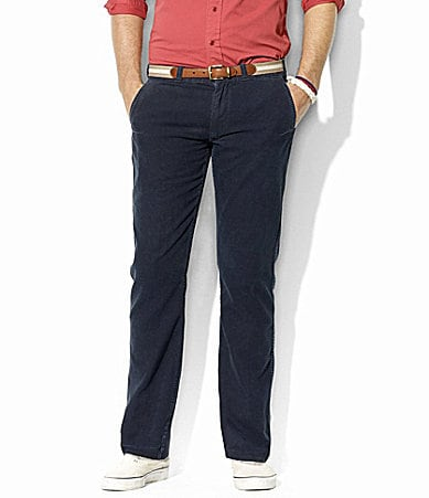 Polo Ralph Lauren Hopkins Straight-Fit Slub Cotton Pants