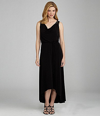 London Times Hi-Low Maxi Dress