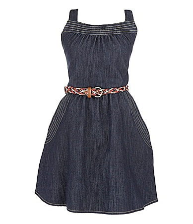 2 Hip by Wrapper 7-16 Denim Dress