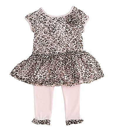 Pippa & Julie Infant Leopard Top & Leggings Set