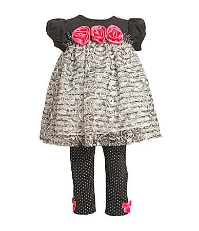 Bonnie Baby Infant Ruffled Top & Leggings Set