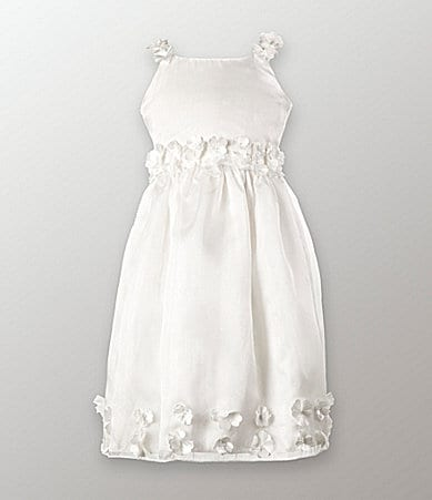 Jayne Copeland 2T-6X Organza Flower Dress