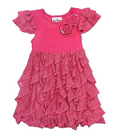 Rare Editions 2T-6X Eyelash Ruffle Dress