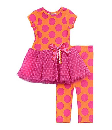 Rare Editions 2T-6X Dot Tutu Dress & Leggings Set