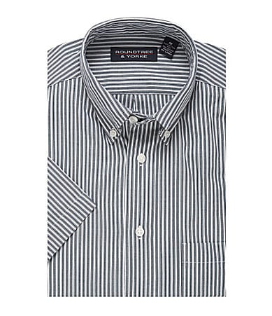 Roundtree & Yorke Striped Oxford Sportshirt