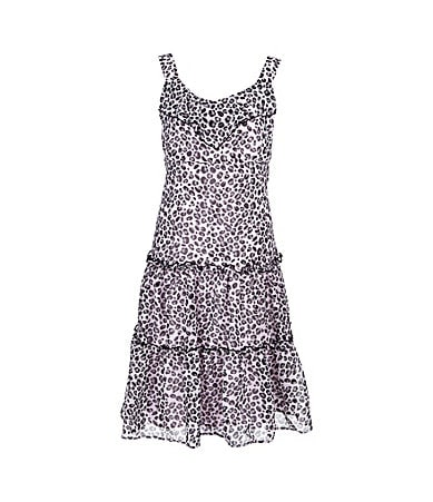 Pippa & Julie 2T-6X Animal-Printed Chiffon Sundress