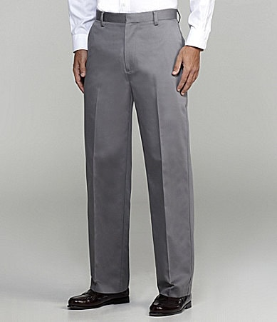 Dockers Never-Iron Essential Khaki Classic-Fit Flat-Front Pants
