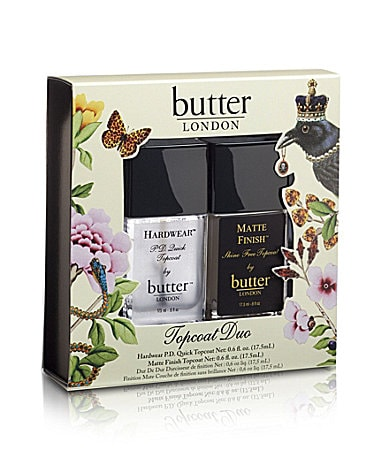 butter LONDON Topcoat Duo