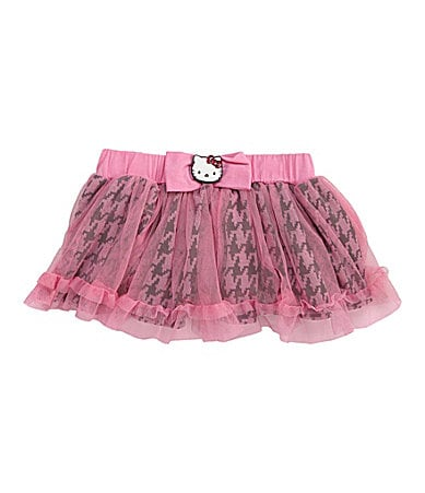 Hello Kitty 2T-6X Printed Mesh Tutu Skirt