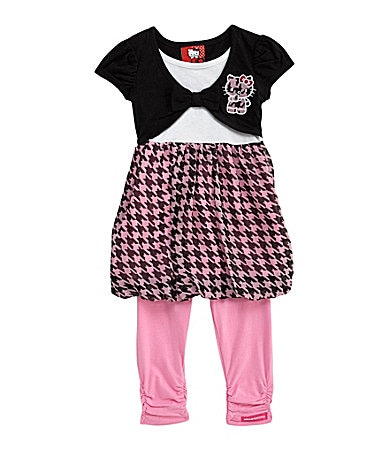 Hello Kitty 2T-6X Dress & Leggings Set