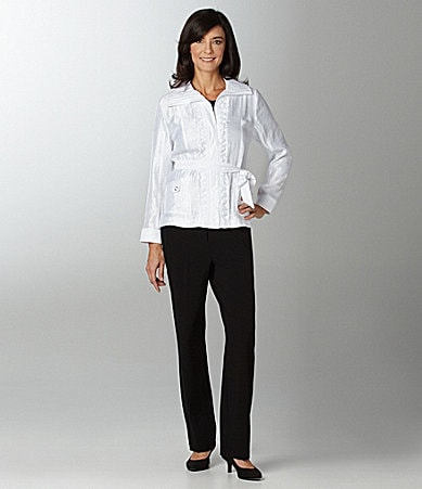 TanJay Woman Iridescent Crush Funnelneck Jacket & Comfort Waist Pants