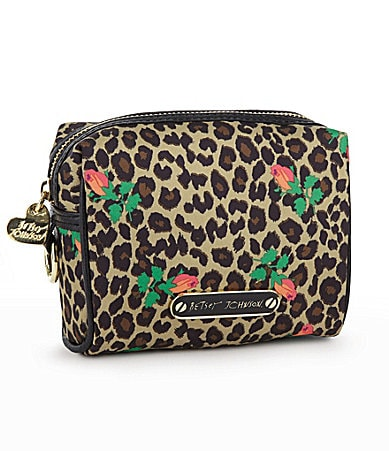 Betsey Johnson Cheetah Baby Small Cosmetic Case