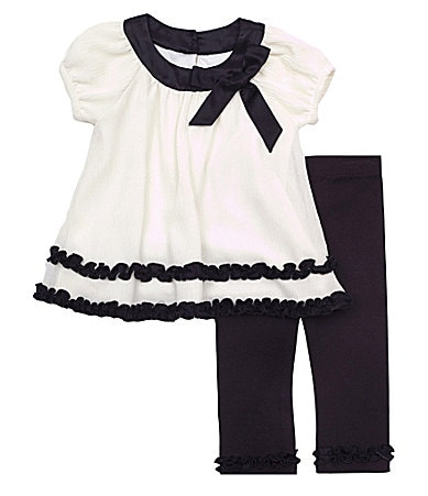 Rare Editions Newborn Ruffled Top & Leggings Set
