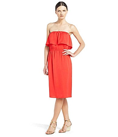 BCBGMAXAZRIA Malia Strapless Ruffle Dress