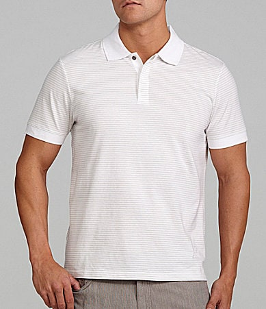 Perry Ellis Big & Tall Fine Stripe Polo Shirt