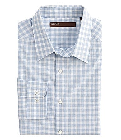 Perry Ellis Big & Tall  End-On-End Check Sportshirt