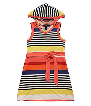 Jessica Simpson Tweenwear 7-16 Tisha Solid Hooded Tank Dress