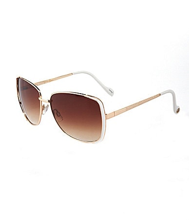 Jessica Simpson Glamour Metal Sunglasses