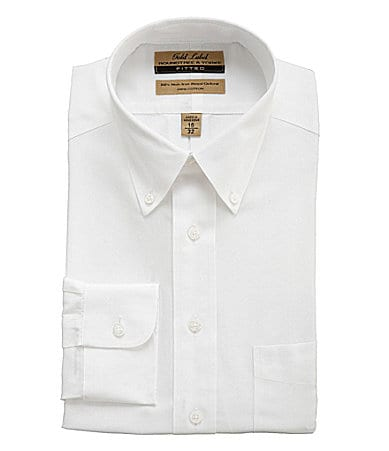 Roundtree & Yorke Gold Label Oxford Fitted Dress Shirt