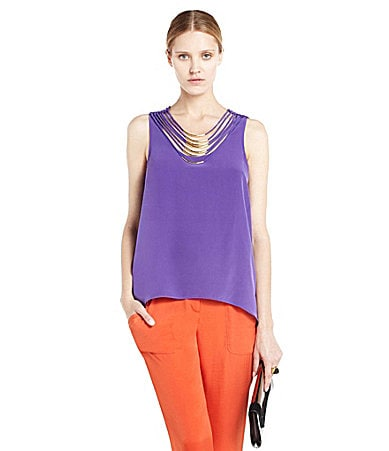 BCBGMAXAZRIA Necklace Tank Top