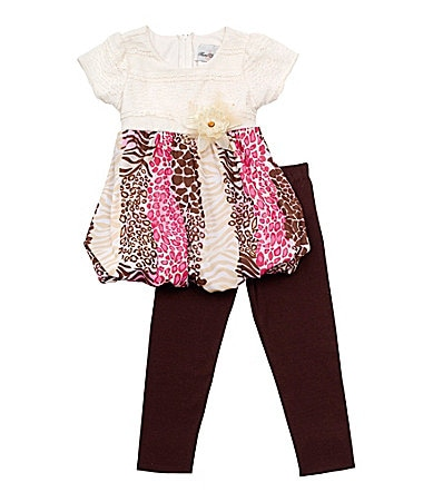 Rare Editions Newborn Animal Print Legging Set