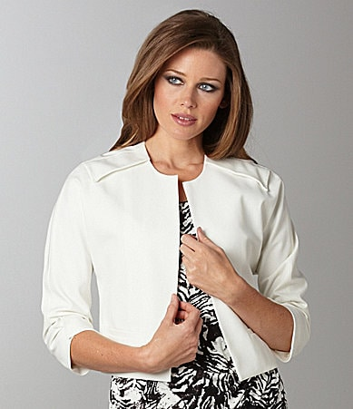 Vince Camuto Cropped Open-Front Jacket