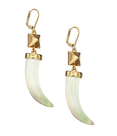 Vince Camuto Jungle Fever Horn Drop Earrings