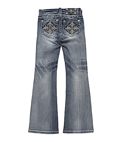 Miss Me Girls 7-16 Tulip Cross Bootcut Jeans
