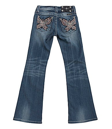 Miss Me Girls 7-16 Embroidered Butterfly Bootcut Jeans