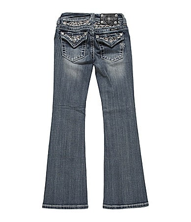 Miss Me Girls 7-16 Sequin Flap Pocket Bootcut Jeans