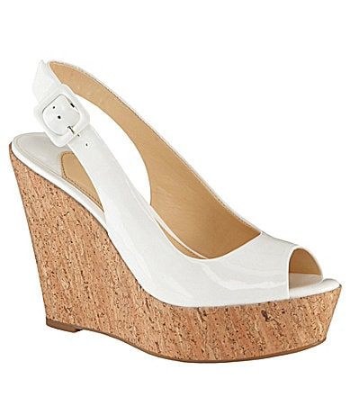 Gianni Bini Heather Slingback Platform Wedges