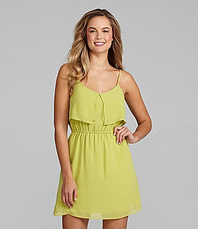 BCBGeneration Double Tier Overlay Dress